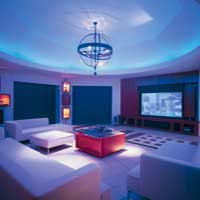 Pittormie Steadings: home entertainment room